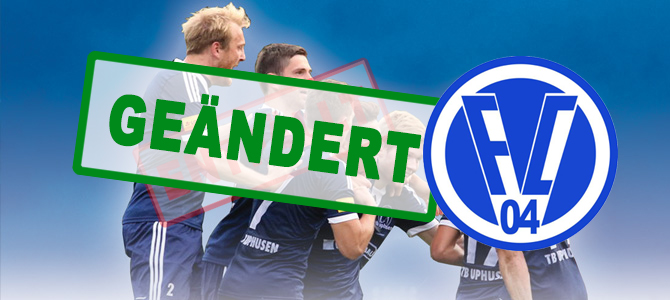 Eilmeldung: SPIELÄNDERUNG für 14.07.15 ( TB Uphusen – FC Verden 04)