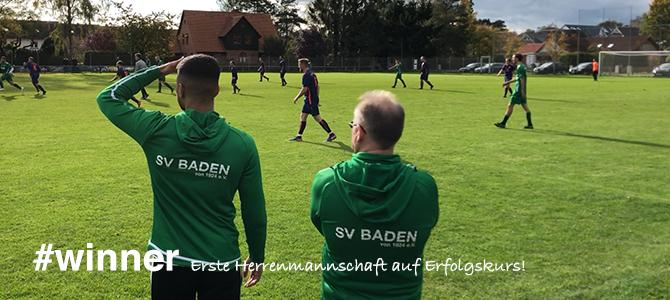 Der SV Baden bleibt weiterhin an der Spitze!