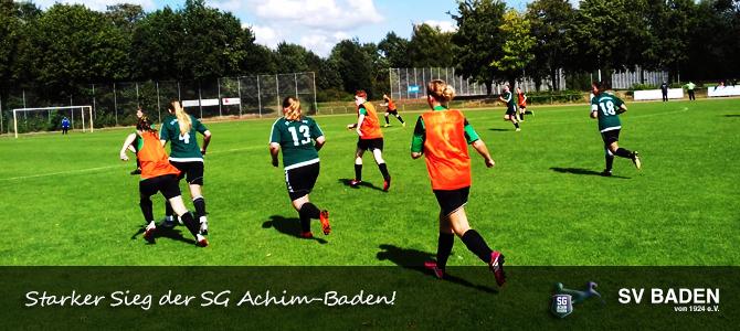 5:0 Erfolg der SG Achim-Baden!
