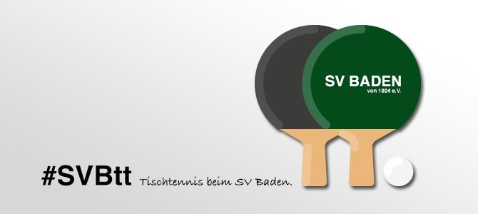 Tischtennis beim SV Baden