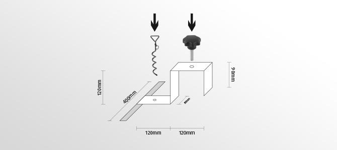 Kippsicherung Zeichnung