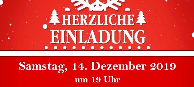 Einladung zur Weihnachtsfeier 2019