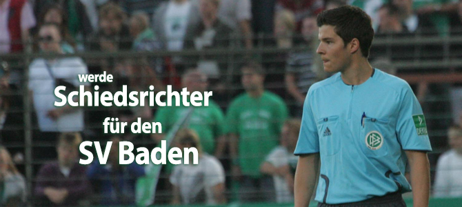 Werde Schiedsrichter für den SV Baden